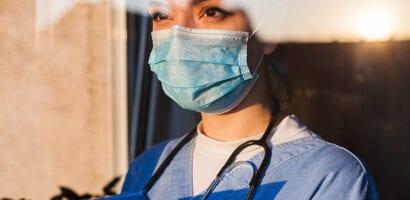 Arts voor het raam
